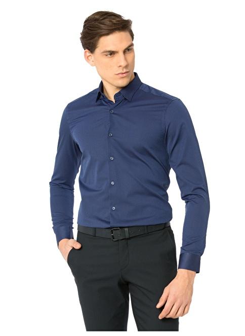 LC Waikiki Uzun Kollu Gömlek Mavi